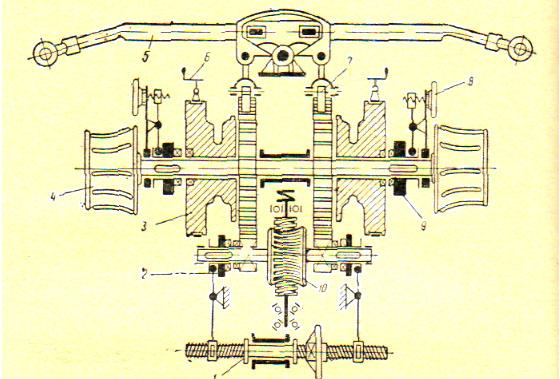 Схема электроручного брашпиля: